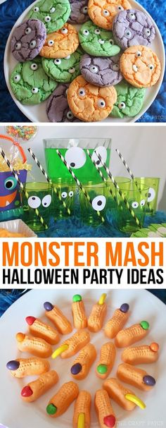 Halloween party theme idea: throw a Monster Mash! A cute and not-so-scary party for kids and adults alike. Monster Themed Party Decor and Food