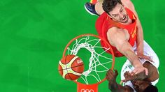Pau Gasol of the Spurs was among the many NBA players that took part in Spain's impressive victory against Nigeria in the 2016 Olympics http://www.espn.com/nba/story/_/id/17279320/spain-defeats-nigeria-olympic-games
