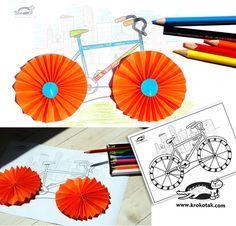 Vélo en éventail... une idée pour l'époque du tour de france(?)