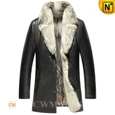 CWMALLS® Mens 2in1 Wolf Fur Coat CW855587