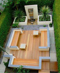 Simple and fresh small backyard garden design ideas Contemporary Garden Design, Landscape Design, Garden Modern, Modern Deck, Modern Contemporary, Contemporary Apartment, Modern Backyard, Contemporary Wallpaper, Contemporary Chandelier