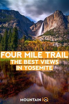 The Four Mile Trail is another iconic hike with all of the best views of This includes panoramic views of the valley Yosemite Falls Cathedral Rocks El Capitan Sentinel Ro. Yosemite Sequoia, Yosemite Mountains, Yosemite Falls, Yosemite National Park, National Parks, California Travel, California Living, Best Hikes, Travel Usa