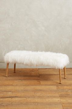 Luxe Fur Bench #uptownchic #anthroregistry
