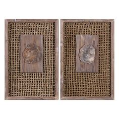 These Endicott Wood Panels offer a rustic touch with natural petrified wood specimens, mounted on a handwoven rattan in a pine wood frame with a light gray wash. Due to the natural characteristics of petrified wood, each piece will be unique. Wall Decor Lights, Wall Decor Set, Wood Wall Decor, Wall Art Sets, Room Decor, Wood Panel Walls, Panel Wall Art, Wood Paneling, Rustic Wood Decor