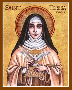 St. Teresa of Avila icon by Theophilia.deviantart.com on @deviantART