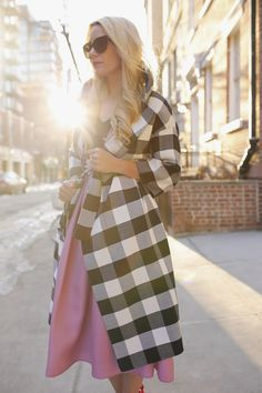 7313ea97834a Fashion Blogger Blair Eadie wearing a gingham jacket by Oscar de la Renta     Click