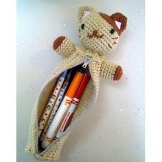 Kitty Pencil Pal Pouch by ~vrlovecats on deviantART