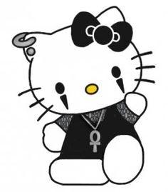 gothic hello kitty ;)