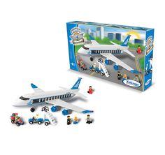 0598.7 - Blocos de Encaixe Embarque Imediato Avião de Passageiros   Contém 434 peças   Faixa Etária: +6 anos   Medidas: 55 x 9 x 31 cm   Jogos e Brinquedos   Xalingo Brinquedos   Crianças