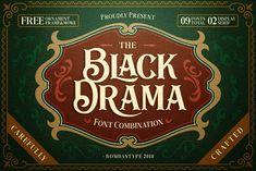 Black Drama Duo + Extras 30% OFF by BombasType on @creativemarket