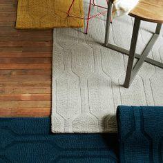 Honeycomb Textured Wool Rug - Horseradish   &129-849