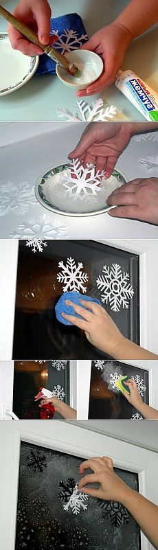 Decorate window Snowflakes / New Year decorations / PassionForum - master classes in needlework