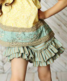 Look at this #zulilyfind! Shangrila Aqua Ava Shorts - Toddler & Girls #zulilyfinds