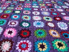 Love the purple .Linda's Crafty Corner: The Never-ending/Mood Blanket Reveal