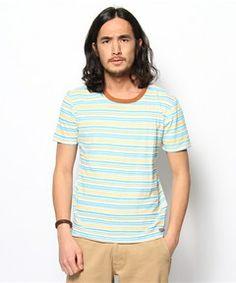 Denime MENS / PRINT BORDER CREW(Tシャツ・カットソー)