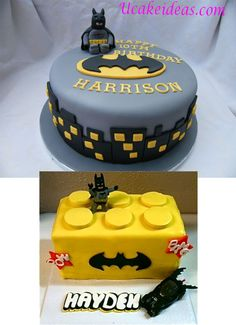 Birthday food ideas for kids boys lego cake ideas Lego Batman Party, Fiesta Batman Lego, Lego Batman Cakes, Batman Birthday Cakes, Lego Cake, Superhero Cake, Superhero Birthday Party, Minecraft Cake, Cake Birthday