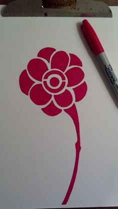 Sharpie flower sketch. :) - http://www.facebook.com/AmandaClealIllustrationAndDesign