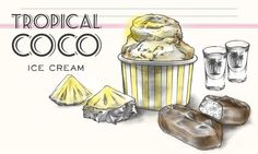 Tropical Coco Ice Cream                              -                                  My Ice Cream Kokosglace mit Ananas.