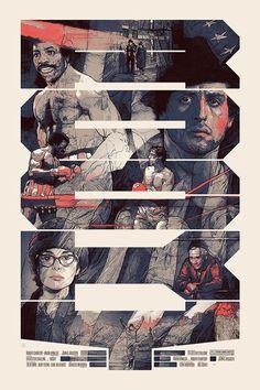 Rocky I, 1977 Alternative poster by Krzysztof Domaradzki Action Movie Poster, New Movie Posters, Cinema Posters, Movie Poster Art, Film Posters, Rocky Balboa Poster, Rocky Poster, Roxy, Rocky Film