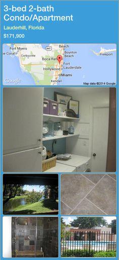 3-bed 2-bath Condo/Apartment in Lauderhill, Florida ►$171,900 #PropertyForSaleFlorida http://florida-magic.com/properties/38279-condo-apartment-for-sale-in-lauderhill-florida-with-3-bedroom-2-bathroom