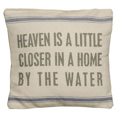 """By the Water"" pillow"