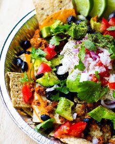 Vegan Nachos for Cinco de Mayo. Yum!