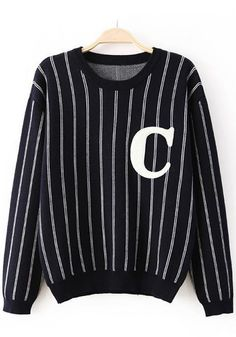 3c815e752783ad ... Type  Slim Color  Black Decoration  Print Material  Knit Collar   Collarless Pattern  Letter Sleeve Length  Long Sleeve. Günstige  PulloverNeue ModeMode ...