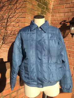 Quilted Silk Bomber Jacket-Blue by PDeeVintage on Etsy