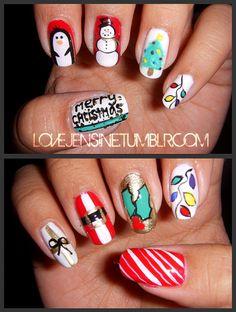 My nails || Christmas Edition