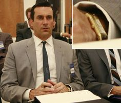 Don Draper with his gold watch- very elegant  #madmen #DonDraper #AMC #Watch