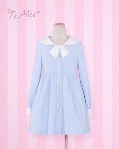 To Alice - cute sailor winged collar dress
