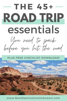 Ready for a road trip? Before you hit the road, make sure you have all of the road trip essentials you'll need to have the best road trip possible! Whether your road trip will be on the highways or the backroads, this thorough list of more than 45 road trip essentials will help with your road trip packing so you don't forget to bring something you'll need on out the road. Plus, download your FREE Road Trip Packing Checklist here! #roadtrip #roadtripessentials #roadtrippacking Road Trip Packing, Road Trip Essentials, Road Trip Hacks, Road Trip Usa, Travel Packing, Travel Tips, Canada Destinations, Road Trip Destinations, Canada National Parks