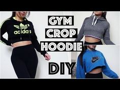 3da6c1e0c7c3b5 HOW TO  DIY Nike   Adidas Hoodies Sweatshirts EASY. Diy Gym ClothesWorkout  ...
