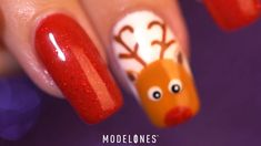 Christmas lucky reindeer nail art tutorial Do you have any ideas about Christmas modelones nail nails nailart naildesign naildesigns nailartdesign gel gelpolish tutorial christmas christmasnail christmasnail christmasnailart christmasnaildesigns santa # Christmas Gel Nails, Christmas Nail Art Designs, Halloween Nail Designs, Holiday Nails, Halloween Nails, Easy Christmas Nail Art, Nail Art Designs Videos, Nail Art Videos, Nail Art Diy