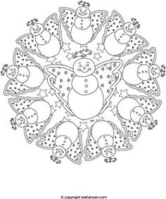 Winter Mandala Coloring Pages Mandala Coloring Pages iKids