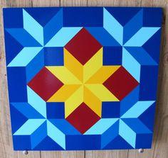 Barn Quilt  Heavenly Stars pattern 24x24 by RemillardBarnQuilts, $95.00
