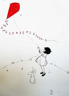 Belle Boo fly a kite Screen Print Go Fly A Kite, Kite Flying, Art And Illustration, Belle E Boo, Screen Printing, Art Drawings, Balloons, Sketches, Artwork