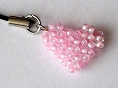 Beaded Bead Heart excellent pic instructions