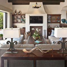 Amazing indoor/outdoor {Dayna Katlin Interiors  Den Opens To The Pacific Ocean  http://www.daynakatlininteriors.com  Photo by Grey Crawford}
