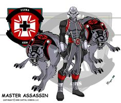 The Silver Wolf and His demon Dogs, Blitz and Krieg. Master Assassins of the German Army's secret super human task force, the Ultra Axis... The Ultra Axis was a group of super powered individu...