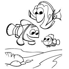 nemo coloring pages images google | 40 Finding Nemo Coloring Pages - Free Printables