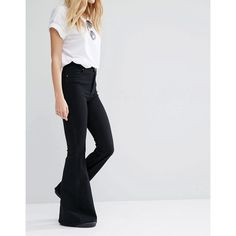 Frayed High Waisted Culotte Jeans (185 HRK) via Polyvore featuring ...