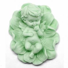 Molde para hacer jabón Angelito en Flor