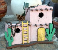 Decorative Bird Houses, Bird Houses Painted, Bird Houses Diy, Bird Crafts, Clay Crafts, Wooden Bird Feeders, Bird House Kits, Ceramic Birds, Rare Flowers