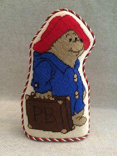 Paddington bear needlepoint standup ~ canvas by Silver Needle