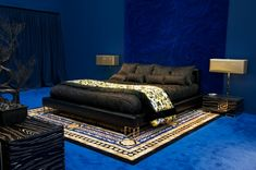 Versace Home Collection 2012 black bed design