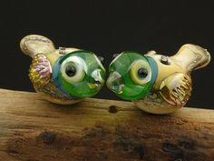 lampwork    RESERVED for MJ   ........bird bead by DeniseAnnette, $22.00