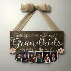 Grandkids Long Distance Gift Grandmother Gift Grandchildren   Etsy Christmas Gifts For Grandma, Homemade Christmas Gifts, Gifts For Mom, Photo Display Board, Photo Displays, Grandmother Gifts, Grandpa Gifts, Wood Picture Frames, Picture On Wood
