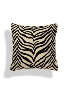 Hand Crewel Pillow by a Cashmere at Gilt Zebra Print, Animal Print Rug, Black And White Cushions, Designer Collection, Home Accessories, Pillow Covers, Cashmere, Throw Pillows, Safari