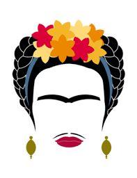 Resultado de imagem para frida kahlo minimalista